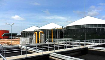 indonesia palm oil wastewater treatment plant