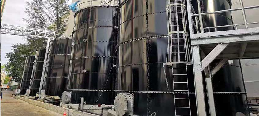 Wastewater Storage Tank for wastewater treatment plant in Singapore
