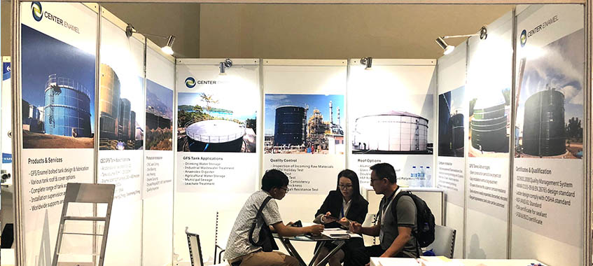 Leading Storage Tanks Solutions Makes Center Enamel The Focus Of The INDO WATER 2019