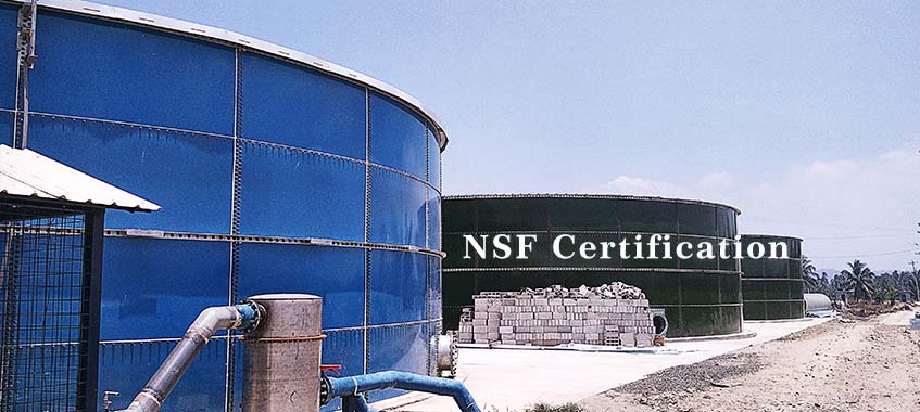 NSF International Certification for Glass Fused To Steel Bolted Tanks