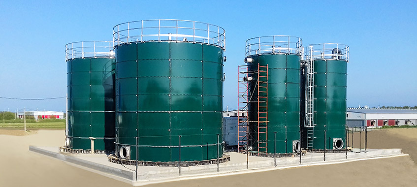 GLS Tanks For Landfill Leachate Treatment Projects