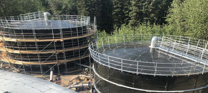 Two Potable Water Storage Tanks In Canada