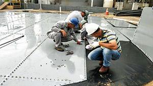 Glass-Fused-to-Steel Floor
