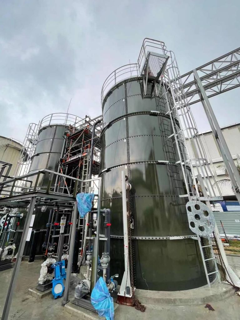 Glass-Fused-to-Steel tanks for Dairy Plant Wastewater Project